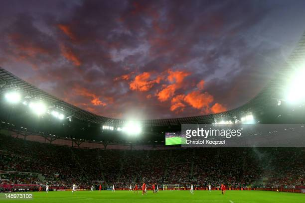 A general view during the UEFA EURO 2012 group A match between Russia and Czech Republic at The Municipal Stadium on June 8 2012 in Wroclaw Poland