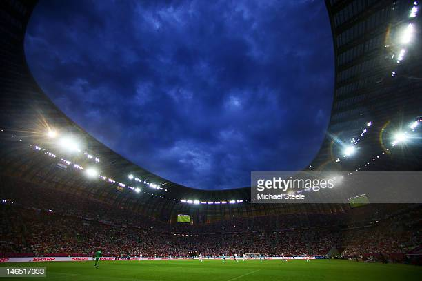 General view during the UEFA EURO 2012 group C match between Croatia and Spain at The Municipal Stadium on June 18, 2012 in Gdansk, Poland.