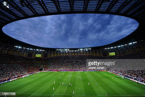 A general view during the UEFA EURO 2012 group C match between Croatia and Spain at The Municipal Stadium on June 18 2012 in Gdansk Poland