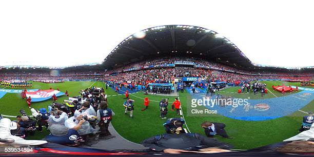 A general view during the UEFA EURO 2016 Group D match between Turkey and Croatia at Parc des Princes on June 12 2016 in Paris France