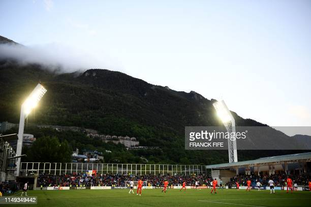 General view during the UEFA Euro 2020 qualification football match between Andorra and France at the National stadium in Andorra La Vella, on June...