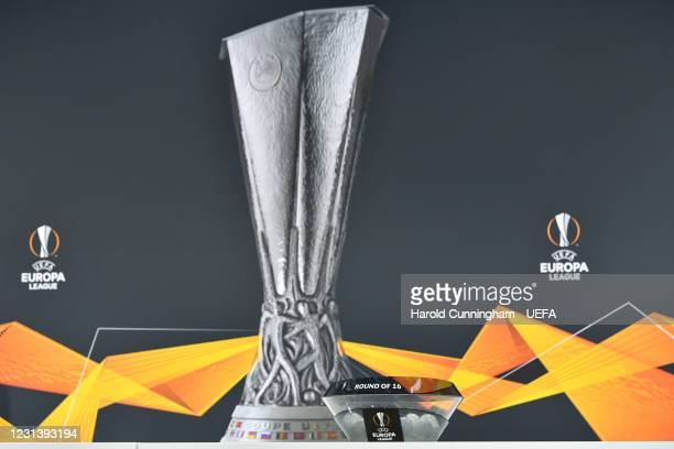 General view during the UEFA Europa League 2020/21 Round of 16 draw at the UEFA Headquarters, the House of European Football, on February 26 in Nyon,...
