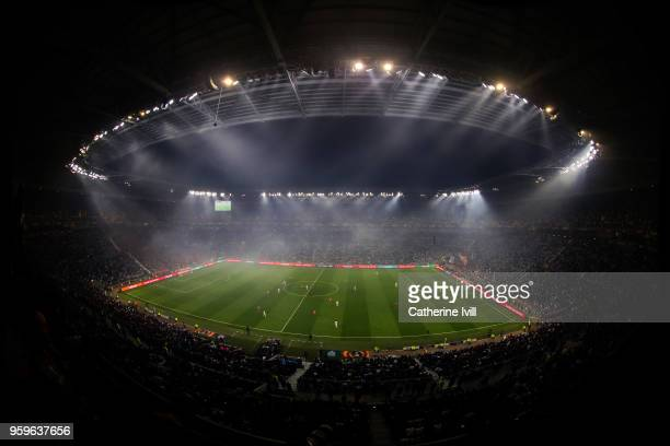 General view during the UEFA Europa League Final between Olympique de Marseille and Club Atletico de Madrid at Stade de Lyon on May 16 2018 in Lyon...