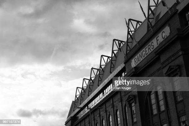 A general view during the UEFA Europa League Qualifying Round match between Rangers and Shkupi at Ibrox Stadium on July 12 2018 in Glasgow Scotland