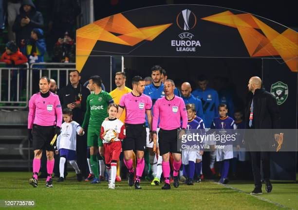 A general view during the UEFA Europa League round of 16 first leg match between PFC Ludogorets Razgrad and FC Internazionale at Ludogorets Arena on...