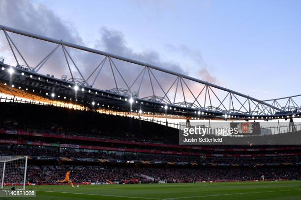 A general view during the UEFA Europa League Semi Final First Leg match between Arsenal and Valencia at Emirates Stadium on May 2 2019 in London...