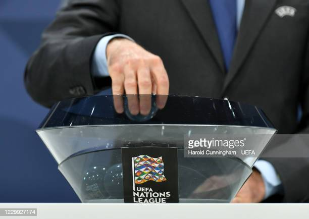 General view during the UEFA Nations League 2020/21 Finals draw at the UEFA Headquarters, the House of European Football, on December 3 in Nyon,...