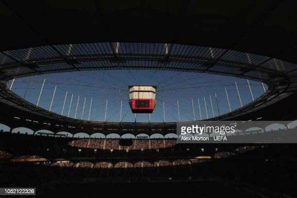 General view during the UEFA Nations League C group four match between Romania and Serbia at the National Arena on October 14, 2018 in Bucharest,...