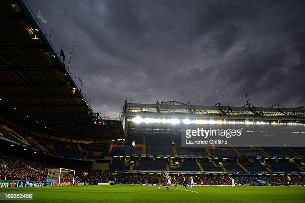 A general view during the UEFA Women's Champions League Final Match between VfL Wolfsburg and Olympique Lyonnais at Stamford Bridge on May 23 2013 in...