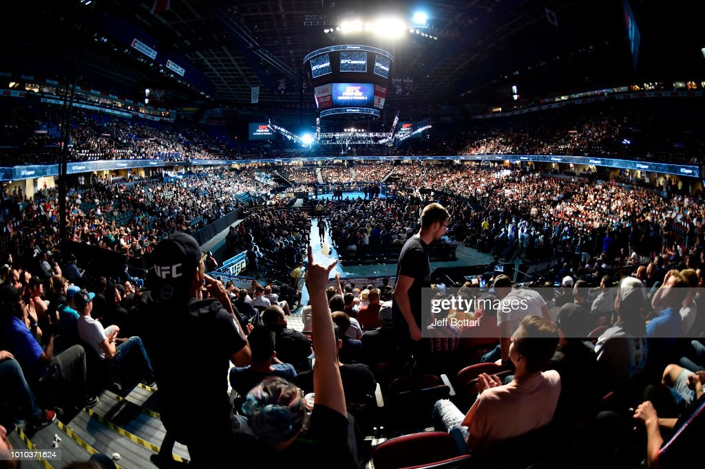 A general view during the UFC Fight Night event at Scotiabank Saddledome on July 28, 2018 in Calgary, Alberta, Canada.