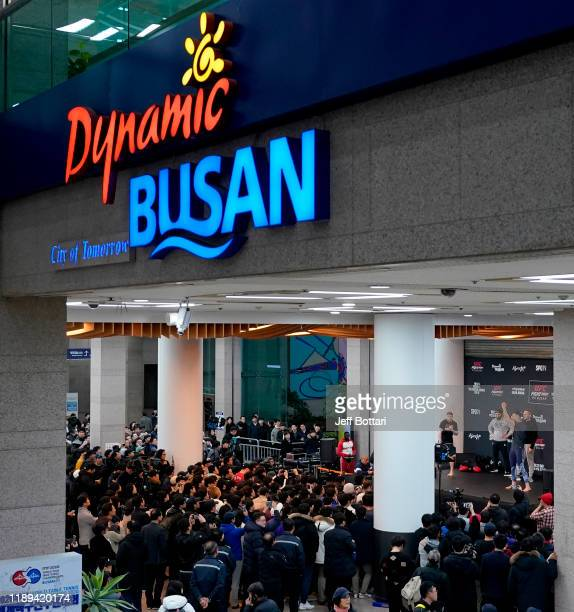 A general view during the UFC Fight Night Open Workouts at City Hall on December 18 2019 in Busan South Korea