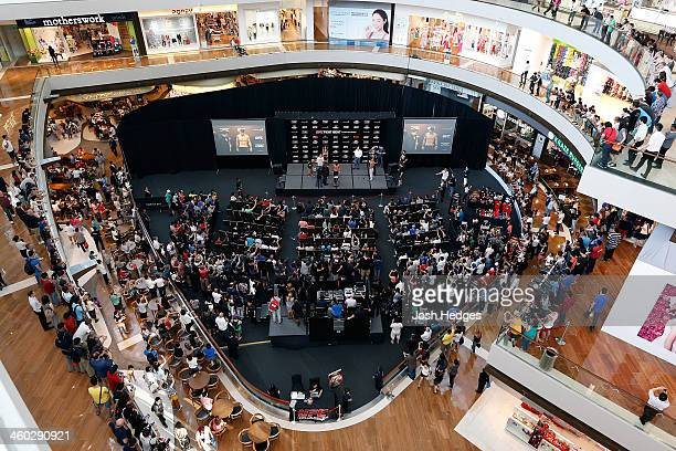 A general view during the UFC Fight Night Singapore Weighin at the Shoppes at Marina Bay Sands on January 3 2014 in Singapore