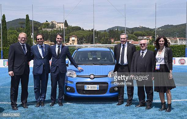 General view during the Unveil New Panda Azzurri Car at Coverciano on May 26 2016 in Florence Italy