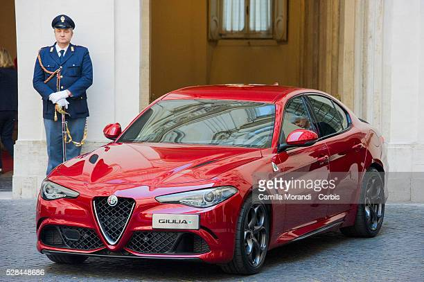A general view during the unveiling of Italian car manufacturer Alfa Romeo's latest car The Alfa Romeo Giulia on May 5 2016 in Rome Italy