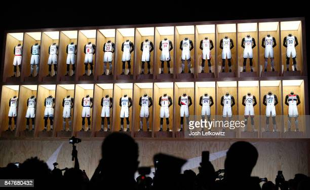 A general view during the unveiling of the New NBA Partnership with Nike on September 15 2017 in Los Angeles California