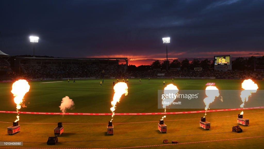 Hampshire v Somerset - Vitality Blast : News Photo