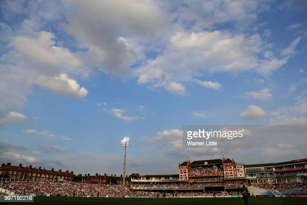A general view during the Vitality Blast match between Surrey and Essex Eagles at The Kia Oval on July 12 2018 in London England