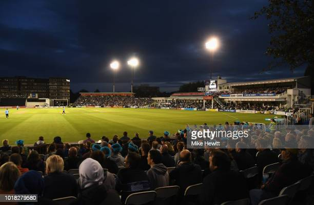 General view during the Vitality Blast match between Sussex Sharks and Middlesex at The 1st Central County Ground on August 17, 2018 in Hove, England.