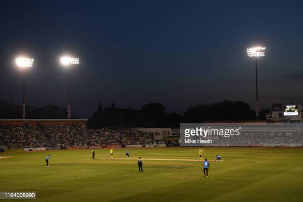 General view during the Vitality Blast match between Sussex Sharks and Hampshire at The 1st Central County Ground on July 24, 2019 in Hove, England.