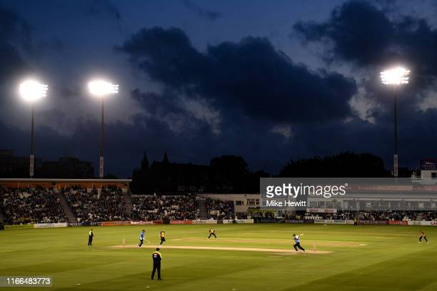 General view during the Vitality Blast match between Sussex Sharks and Essex Eagles at The 1st Central County Ground on August 06, 2019 in Hove,...