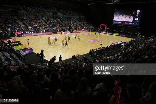 A general view during the Vitality Netball International Series match between South Africa and Australian Diamonds as part of the Netball Quad Series...