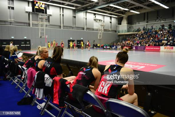 General view during the Vitality Netball Superleague match between Strathclyde Sirens and Manchester Thunder at Emirates Arena on April 1, 2019 in...