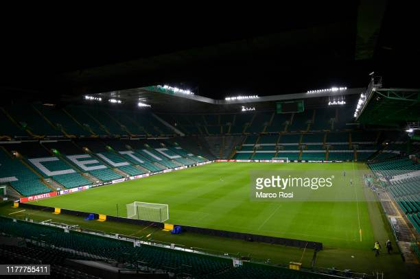 General view during the walk around at Celtic Park Stadium on October 23, 2019 in Glasgow, Scotland.