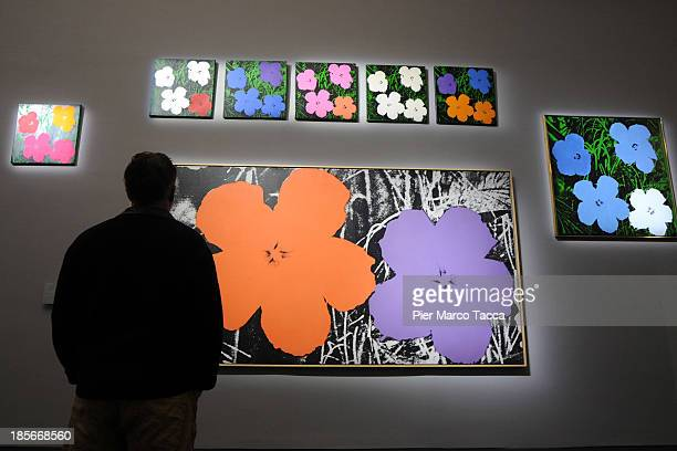 A general view during the 'Warhol' exhibition opening at Palazzo Reale on October 23 2013 in Milan Italy