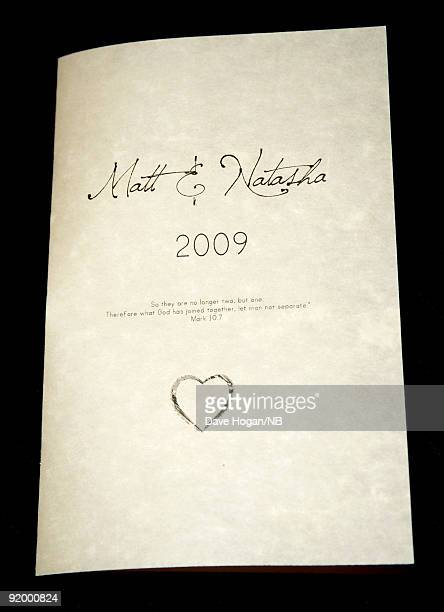 General view during the wedding ceremony of singer Natasha Bedingfield and Matt Robinson held at Church Estate Vinyards on March 21 2009 in Malibu...