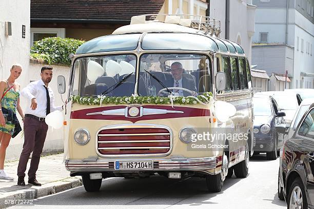 A general view during the wedding of Mario Gomez and Carina Wanzung on July 22 2016 in Munich Germany