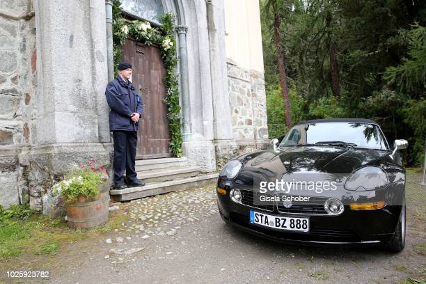 A general view during the wedding of Prince Konstantin of Bavaria and Princess Deniz of Bavaria born Kaya at the french church 'Eglise au Bois' on...