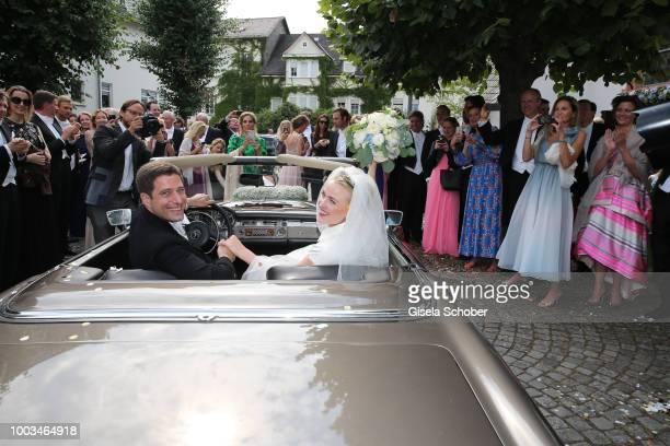 A general view during the wedding of Princess Theodora zu SaynWittgensteinBerleburg and Earl Nikolaus Bethlen de Bethlen on July 21 2018 in Bad...