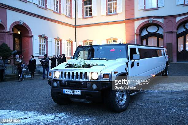 A general view during the wedding reception of Countess Diana Bernadotte of Wisborg and her husband Stefan Dedek at the Mainau Castle on January 13...