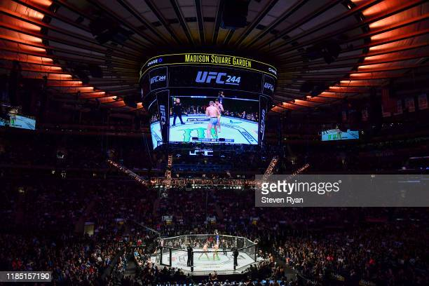 General view during the Welterweight bout between Stephen Thompson of the United States and Vicente Luque of the United States during UFC 244 at...