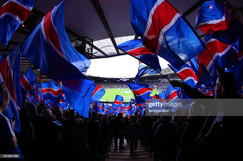 A general view during the William Hill Scottish Cup semi final between Rangers and Celtic at Hampden Park on April 17, 2016 in Glasgow, Scotland.