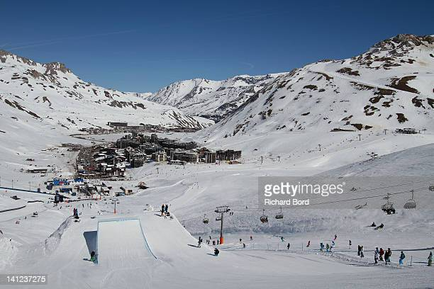 A general view during the Winter XGames Europe second training day on March 13 2012 in Tignes France