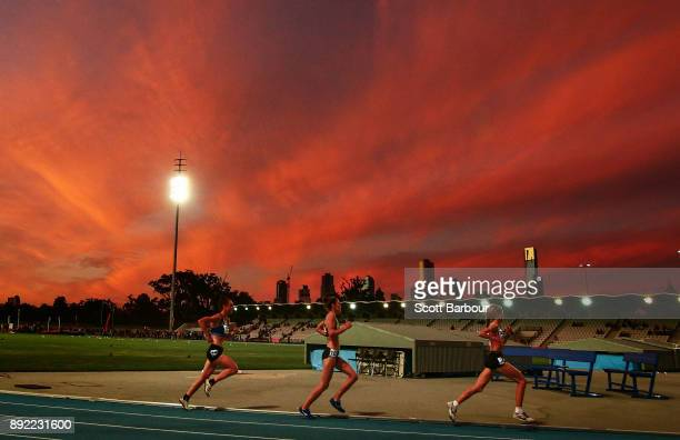 A general view during the Womens 10000 Meter Run Open Zatopek race during Zatopek 10 at Lakeside Stadium on December 14 2017 in Melbourne Australia