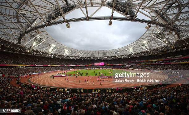 General view during the Women's 200 metres heats during day five of the 16th IAAF World Athletics Championships London 2017 at The London Stadium on...