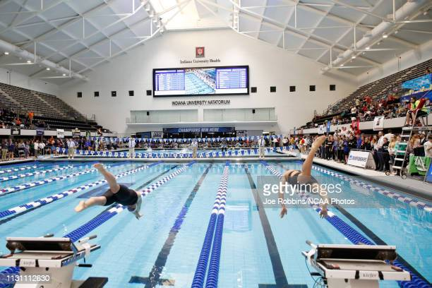 General view during the Women's 200 Yard Breaststroke final during the Division II Men's and Women's Swimming Diving Championships held at IU...
