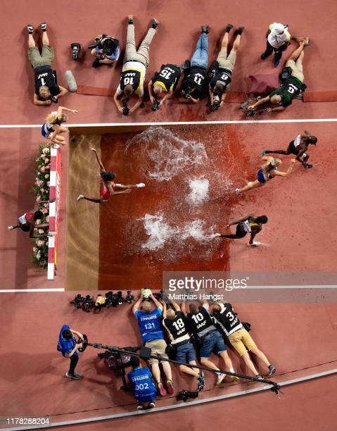 General view during the Women's 3000 metres Steeplechase final during day four of 17th IAAF World Athletics Championships Doha 2019 at Khalifa...