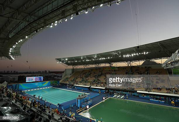 A general view during the Women's 3M Springboard semi final on Day 8 of the Rio 2016 Olympic Games at the Maria Lenk Aquatics Centre on August 13...