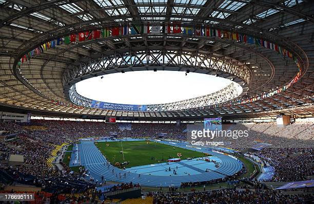 A general view during the Women's 4x400 metres relay final during Day Eight of the 14th IAAF World Athletics Championships Moscow 2013 at Luzhniki...