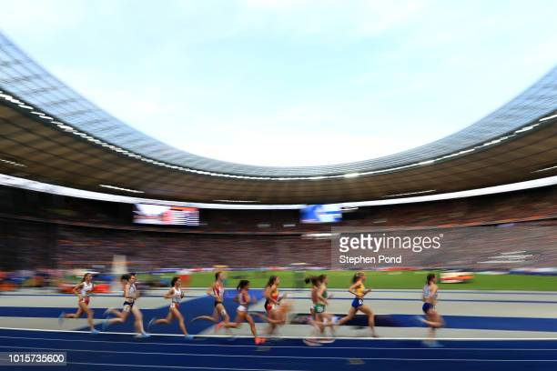 A general view during the Women's 5000m Final during day six of the 24th European Athletics Championships at Olympiastadion on August 12 2018 in...