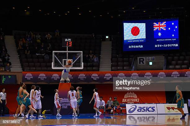 General view during the Women's Basketball International Friendly match between Japan and Australia at Yoyogi National Gymnasium on May 9, 2016 in...
