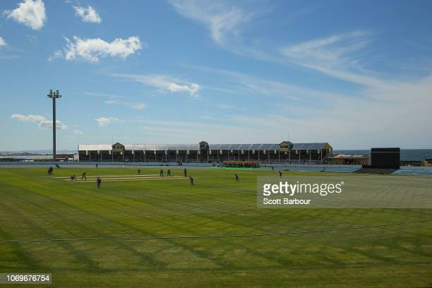 A general view during the Women's Big Bash League match between the Hobart Hurricanes and the Melbourne Stars at West Park Burnie on December 8 2018...