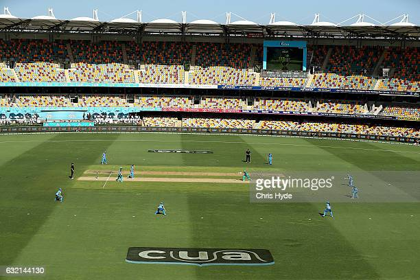 General view during the Women's Big Bash League match between the Brisbane Heat and the Adelaide Strikers at The Gabba on January 20 2017 in Brisbane...