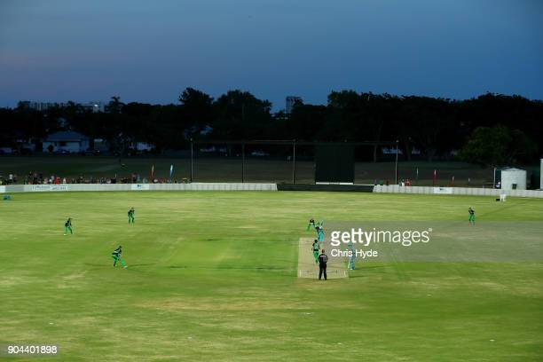 General view during the Women's Big Bash League match between the Brisbane Heat and the Melbourne Stars on January 13 2018 in Mackay Australia