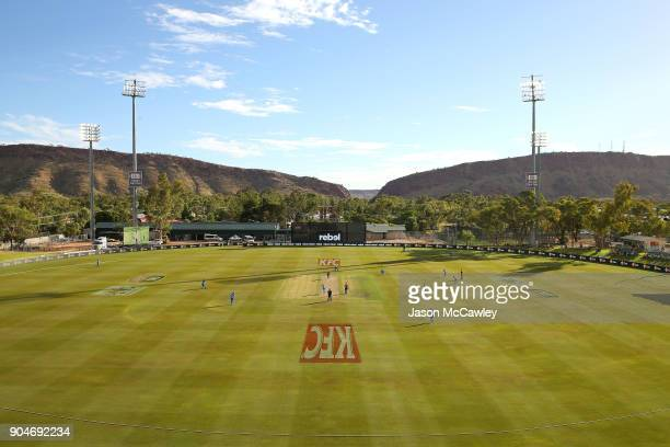 A general view during the Women's Big Bash League match between the Perth Scorchers and the Adelaide Strikers at Traeger Park on January 14 2018 in...