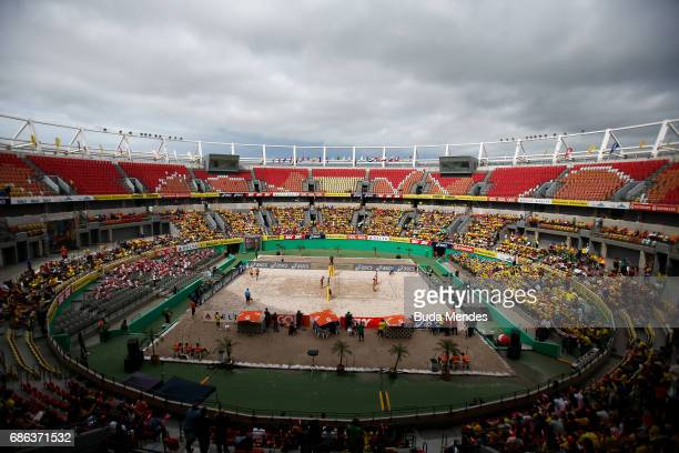 General view during the Women's Finals match against Agatha Bednarczuk and Eduarda Santos Lisboa of Brazil and Sarah Pavan and Melissa HumanaParedes...