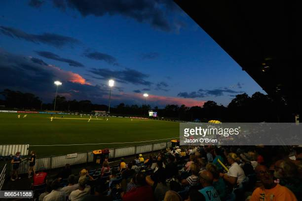 General view during the Women's One Day International match between Australia and England on October 26 2017 in Coffs Harbour Australia